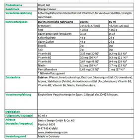 Dextro Energy Liquid Gel Box 18x60ml, Orange